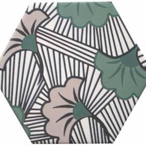 Carrelage hexogonal, la tomette grès cérame good vibes - GO0812001