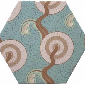 Carrelage hexogonal, la tomette grès cérame good vibes - GO0812002