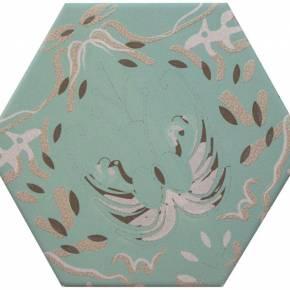 Carrelage hexogonal, la tomette grès cérame good vibes - GO0812005