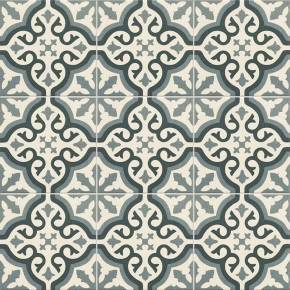 Carrelage imitation carreau ciment sol et mur blue 20 x 20 cm - FL0115007
