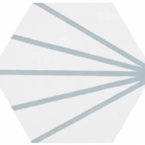 Carrelage hexagonal design vintage - mat à motif turquoise - ME9507005