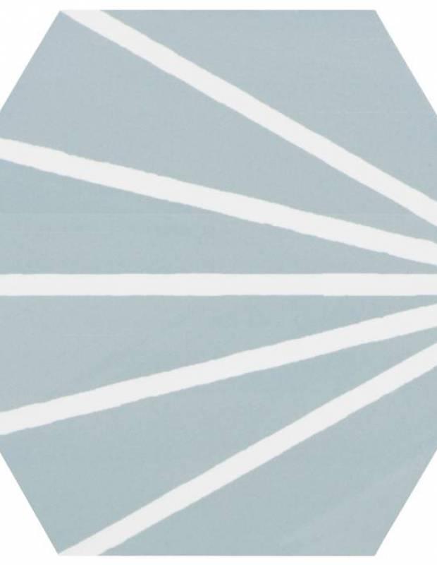 Carrelage hexagonal design vintage - mat à motif turquoise - ME9507001