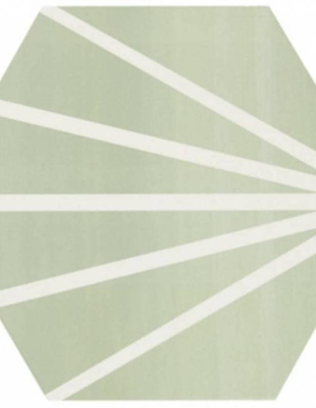 Carrelage hexagonal design vintage - mat à motif vert - ME9507009