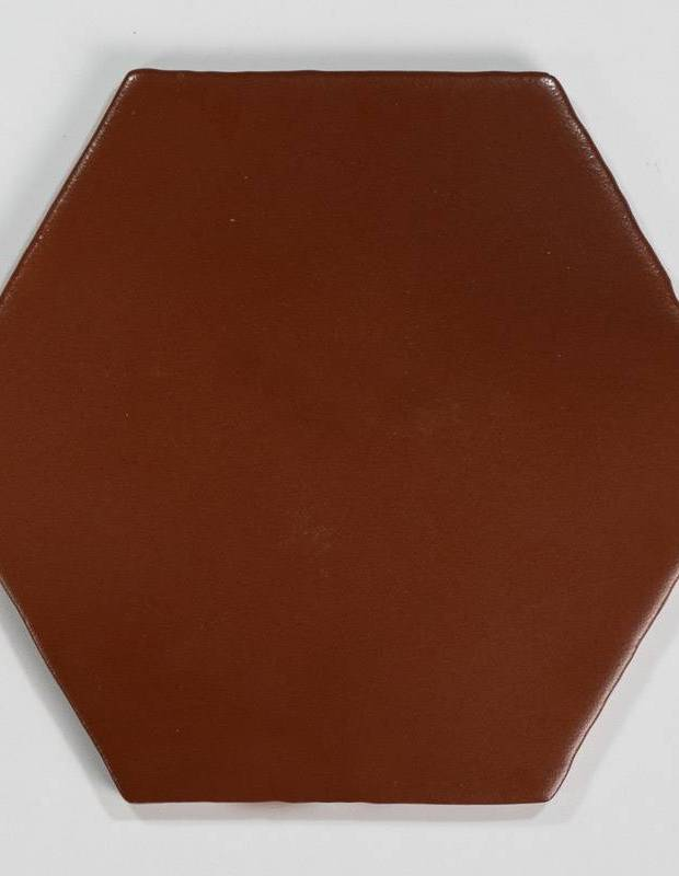 Carrelage hexagonal mat rouge 15 x 15 cm - HE0811005