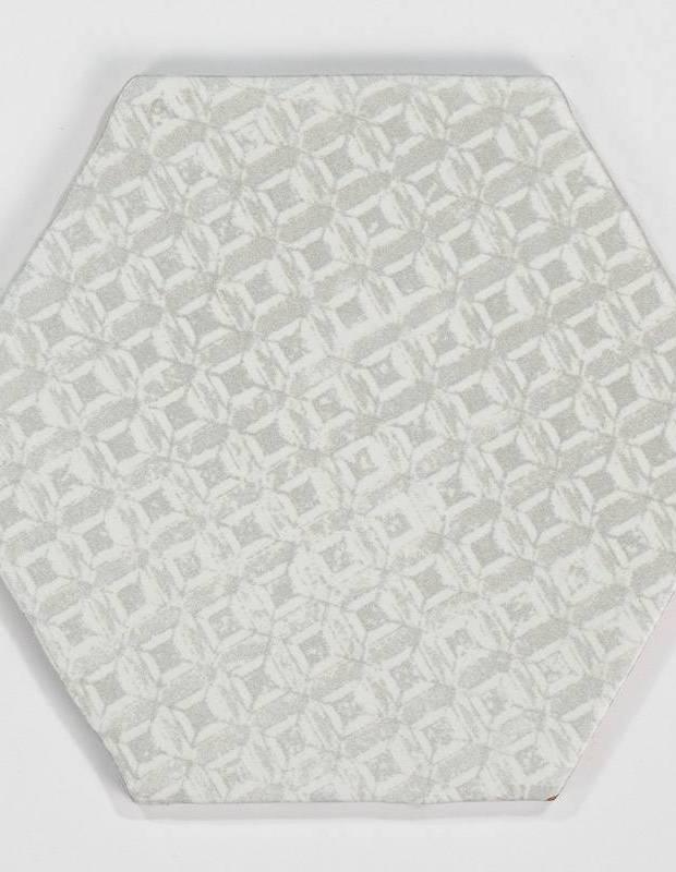 Carrelage hexagonal mat gris 15 x 15 cm - HE0811012