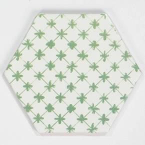 Carrelage hexagonal mat vert 15 x 15 cm - HE0811014