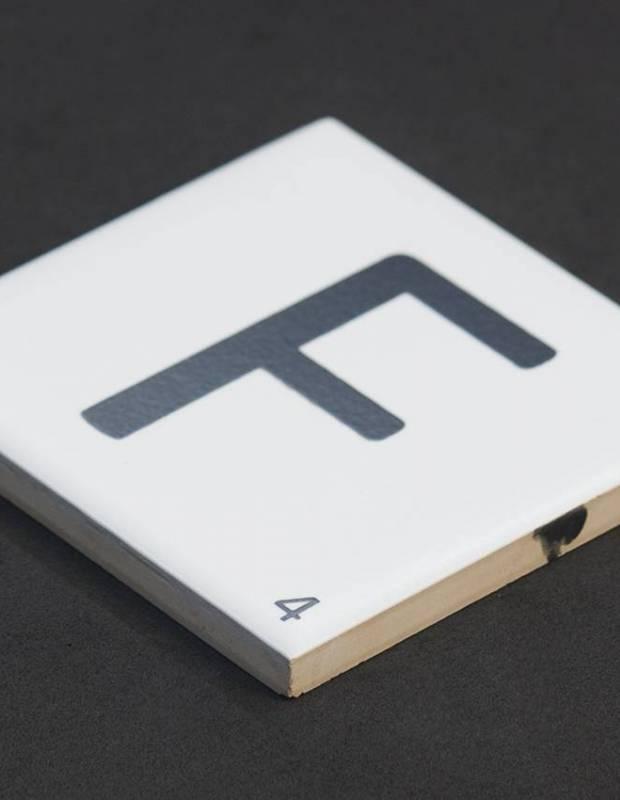 Carrelage scrabble lettre F 10 x 10 cm - LE0804006
