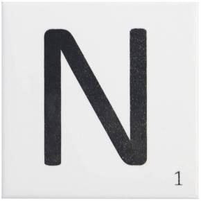 Carrelage scrabble lettre N 10 x 10 cm - LE0804014