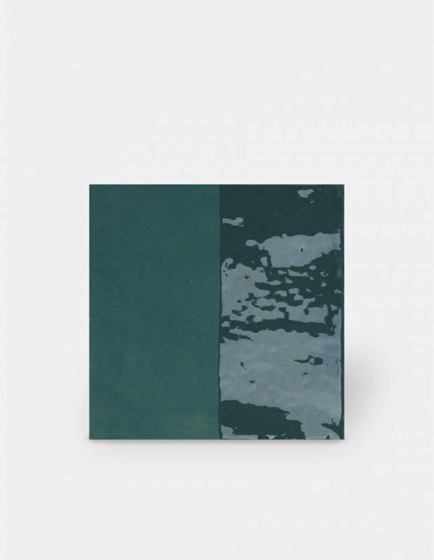 Carrelage imitation carreau ciment sol et mur rouge 15 x 15 cm - VI0202005