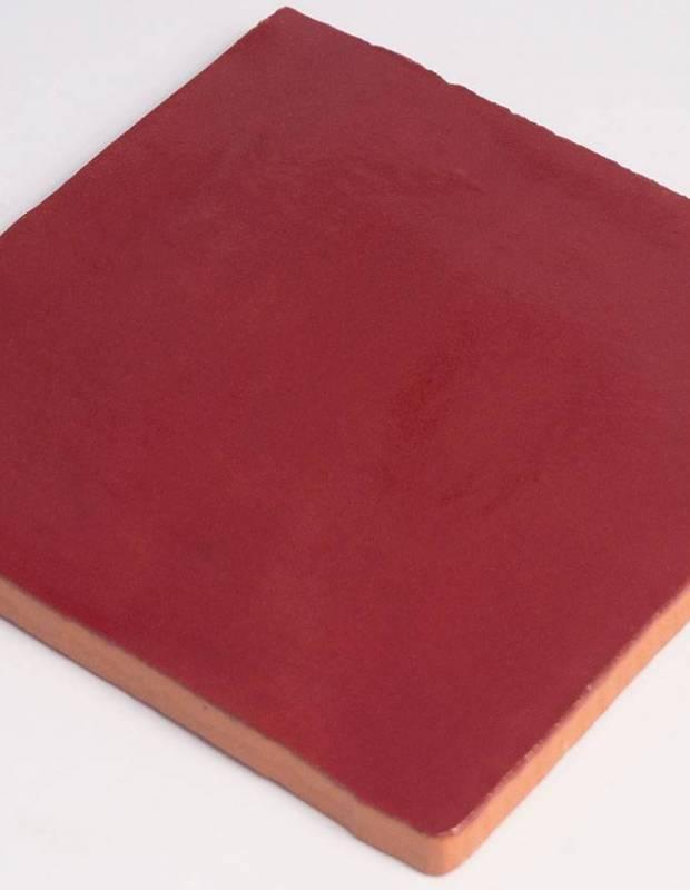 Carrelage mural ancien brillant rouge 13 x 13 cm - PR0810003