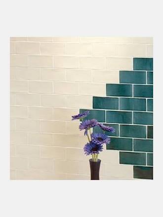 Carrelage salle de bain, du sol au mur, douche et crédence